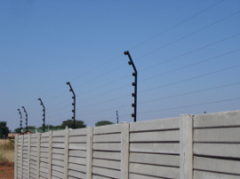 Wall Top Electric Fencing Security Electric Fences